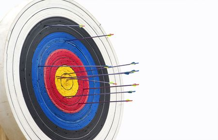 great image of a archery target full of arrows Stock Photo - 3413026