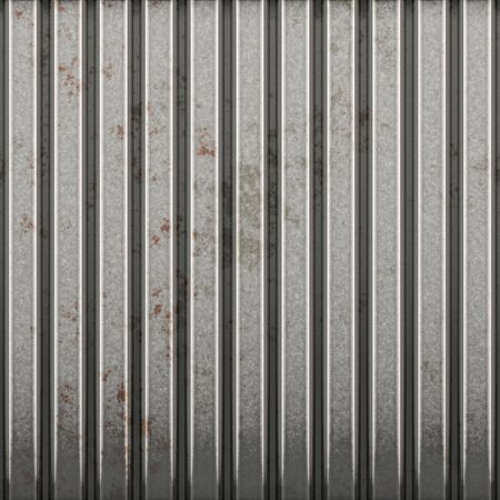 corrugated steel: great image of a large metal fence or wall