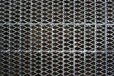 gran imagen de una rejilla de metal industrial pasarela de fondo  Foto de archivo - 3498119