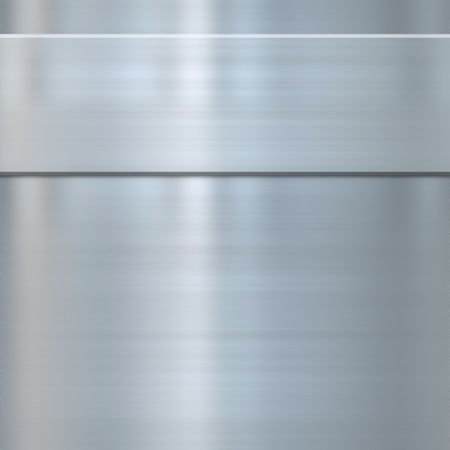 finely: very finely brushed steel metal background texture with panel