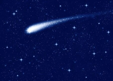 stars: make a wish on this shooting star going across a starry sky