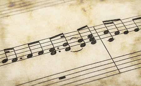 great image of music notes composition on paper Stock Photo - 3637201