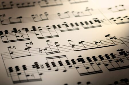 great image of music notes composition on paper Stock Photo - 3637173