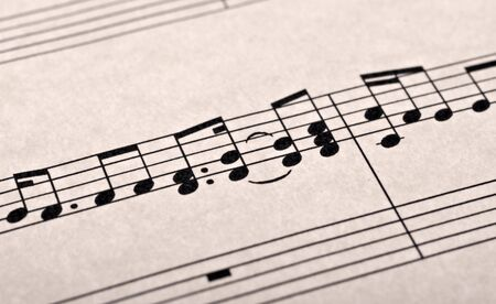 great image of music notes composition on paper Stock Photo - 3650801