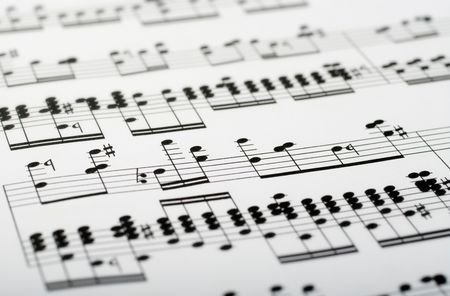 great image of music notes composition on paper Stock Photo - 3650802