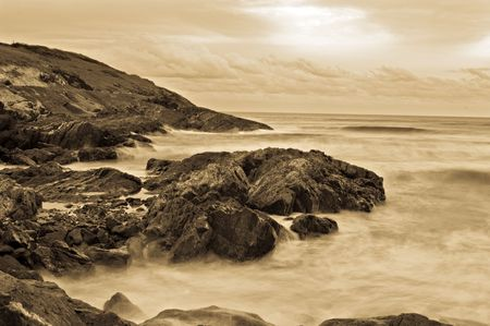 vapour: great image of soft water on rocks
