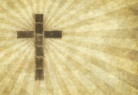 great image of a christian cross on parchment paper Stock Photo - 3733085