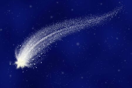 a great illustration of a shooting star in a starry sky illustration