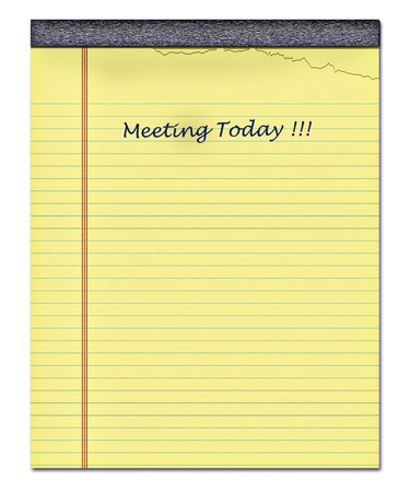 nice image of a yellow notepad with a page torn off Stock Photo - 4161833