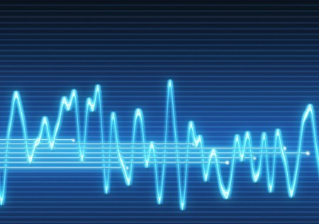 large image of an electronic sine sound or audio wave Stock Photo - 4161834