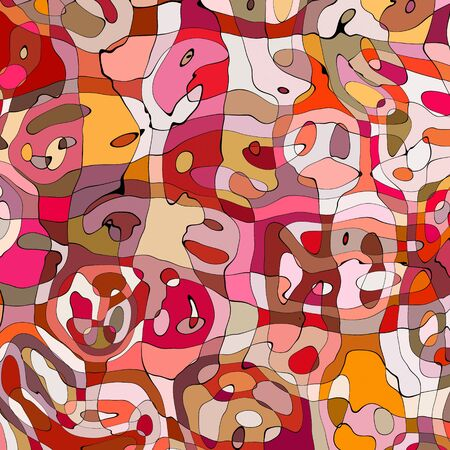 great bright and colourful abstract art image representing crowded and busy Stock Photo - 4438876