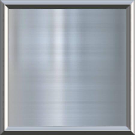 piastra acciaio: grande immagine di argento lucido o lamiera d'acciaio nel telaio Archivio Fotografico