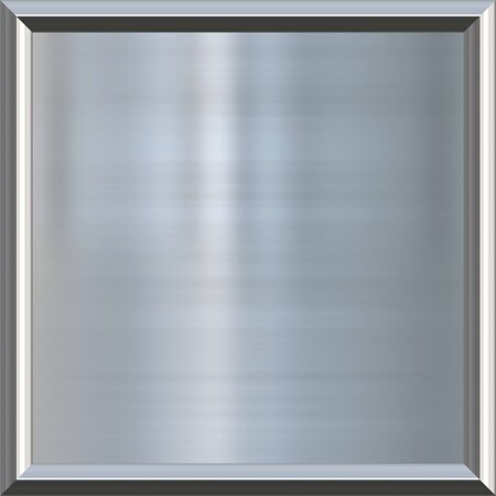 great image of shiny silver or steel plate in frame  photo