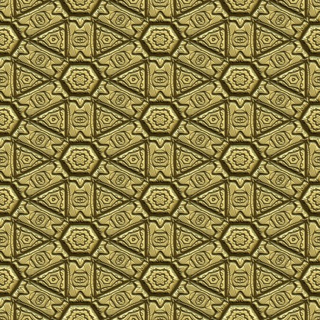 great background image of patterned gold metal Stock Photo - 4496699