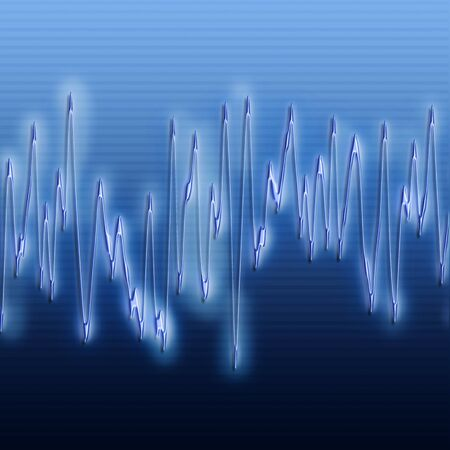 audiowave: great image of very bright and glowing sound wave