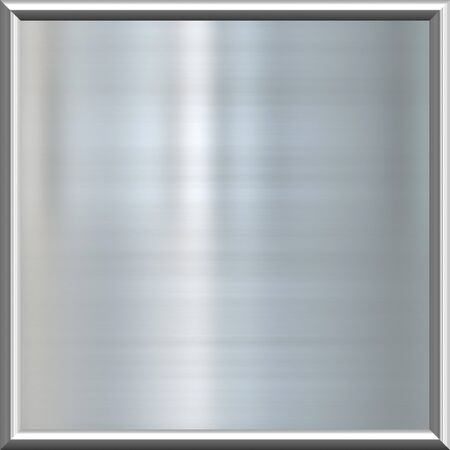 great image of shiny silver or steel plate in frame