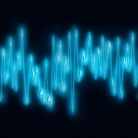 oscillations: great image of very bright and glowing sound wave