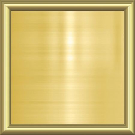 great image of gold plaque in frame Stock Photo - 4550976