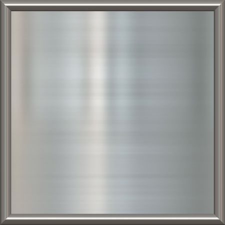 great image of shiny silver or steel plate in frame  Stock Photo - 4596782
