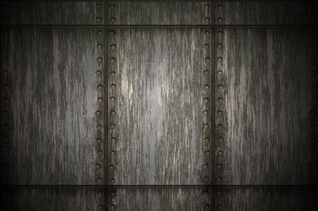 old dirty and grungy metal wall background texture Stock Photo - 4636244