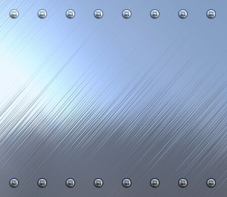 screws: highly polished and reflective stainless steel background