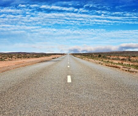 barrier highway through the outback and desert Stock Photo - 4765652