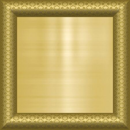 great image of gold plaque in frame Stock Photo - 4765658