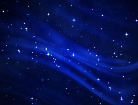 a nice blue star field of bright and shining stars photo