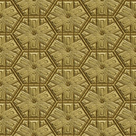 great background image of patterned gold metal Stock Photo - 4807394