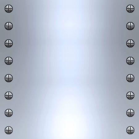 acier bross�?: une grande image de fond de l'acier bross� ou en alliage avec vis