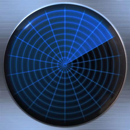 sonar: une grande image d'un �cran radar ou sonar