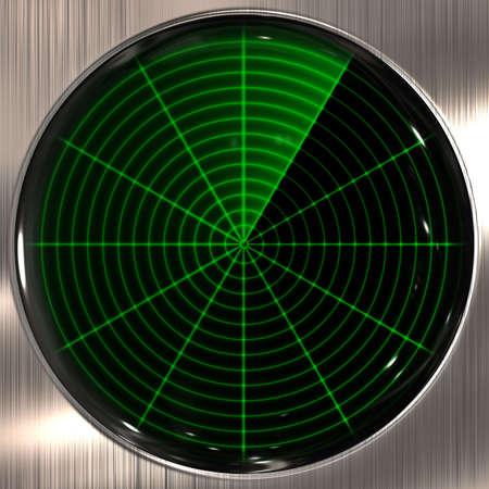 sonar: grande immagine di un radar o sonar schermo