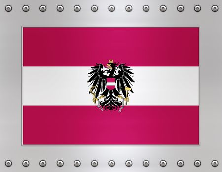 Great Image of the Flag of Austria photo