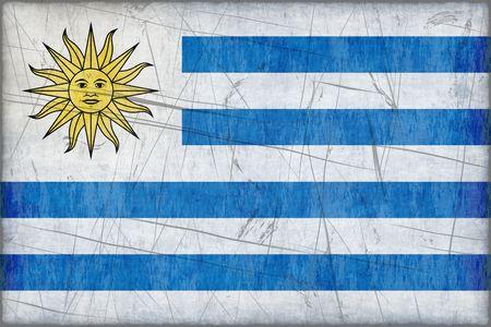 Gran imagen de la Bandera de Uruguay Foto de archivo - 5067022