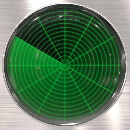 sonar: great image of a radar or sonar screen Stock Photo