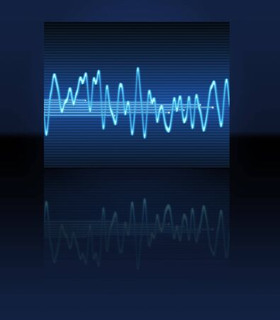 audiowave: large image of an electronic sine sound or audio wave