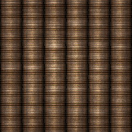 coppers: great background of rows of coins  Stock Photo