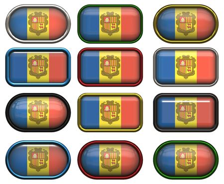 twelve buttons of the Flag of andorra photo