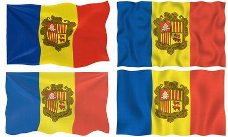 Great Image of the Flag of andorra photo