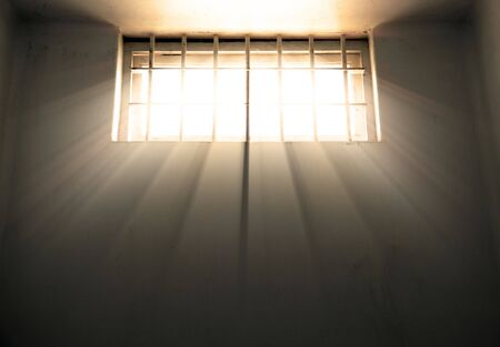 great image of sunlight through a cell window Stock Photo - 5894074