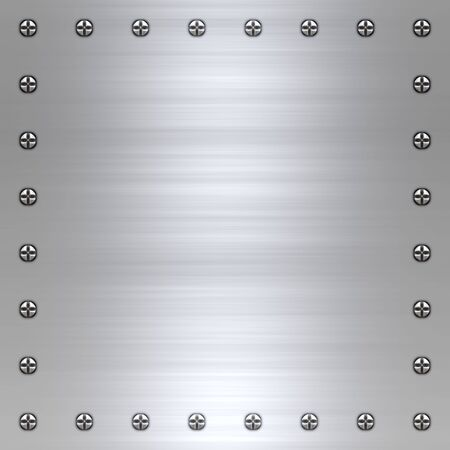 screwed: great background image of brushed steel or alloy with screws