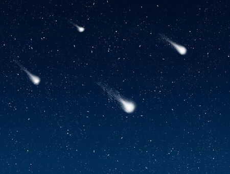 great image of shooting stars in the night sky photo