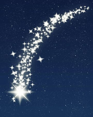 great image of a shooting wishing star for christmas photo