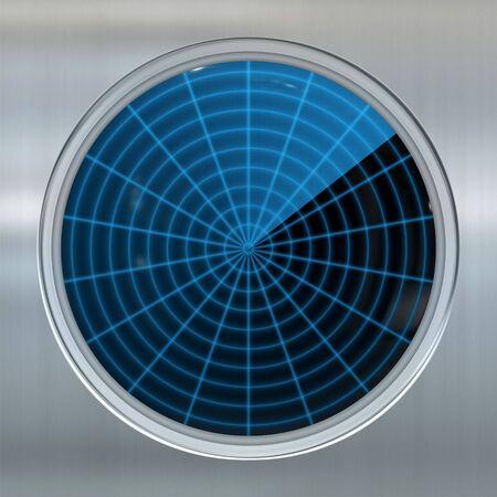 sonar: immagine dello schermo di un sonar o radar Archivio Fotografico