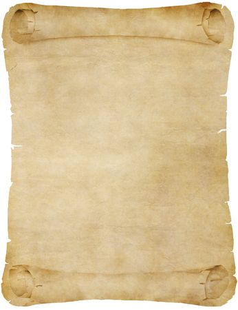 old parchment: old paper or parchment scroll