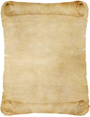 pergamino: papel antiguo o desplazamiento de pergamino  Foto de archivo