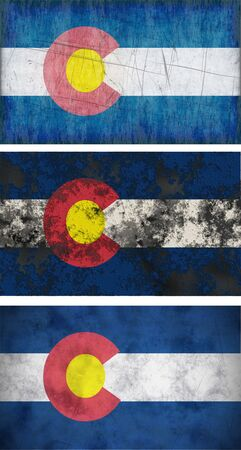 flag of colorado: Great Image of the Flag of Colorado Stock Photo