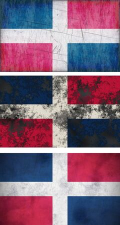 Great Image of the Flag of dominican republic photo