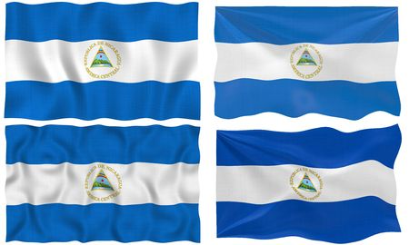 Great Image of the Flag of Nicaragua photo