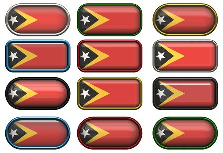 timor: twelve buttons of the  Flag of East Timor